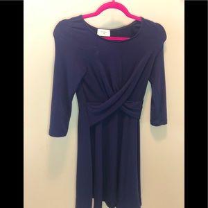 Everly navy blue dress( Size S)
